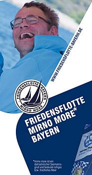 Flyer der Mirno More Friedensflotte Bayern 2017